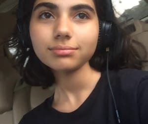 girl, girls, and headphones image