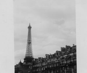 architecture, black and white, and eiffel tower image