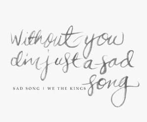 music, sad song, and we the kings image