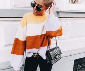 black, fashion, and orange image