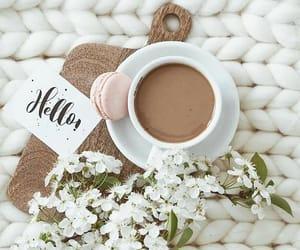 coffee, hello, and good morning image