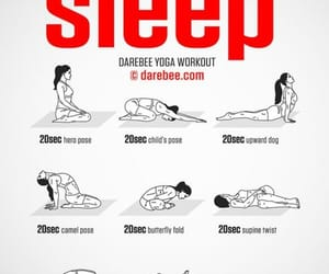 workout, sleep, and yoga image
