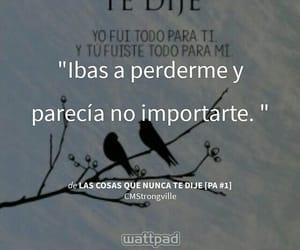 frases, frases en español, and wattpad image