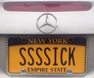 car, mercedes, and new york image