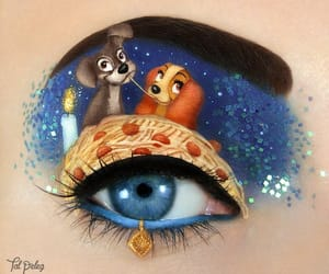art, lady and the tramp, and makeup image