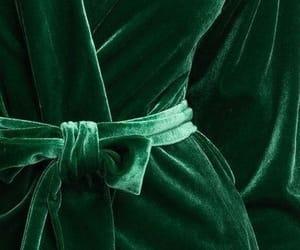 green, velvet, and dress image