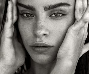 b&w, eyebrows, and beauty image