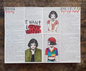 art journal, doodle, and journal image