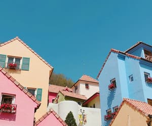 blue, colour, and Houses image