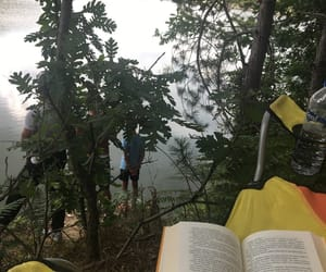 book, camp, and tent image