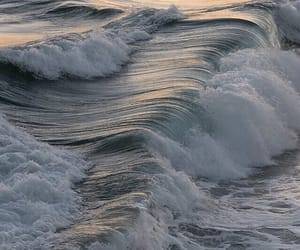ocean, waves, and aesthetic image