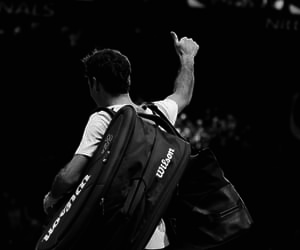 black and white, sports, and tennis image