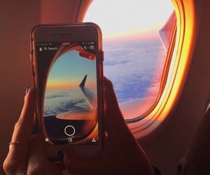 fly, iphone, and plane image
