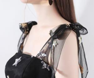 black dress, homecoming dress, and girl image