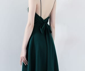 dark green dress, girl, and party dress image