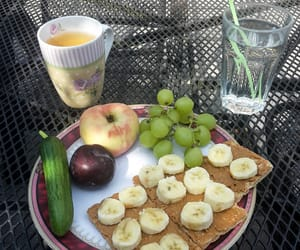 banana, breakfast, and cucumber image