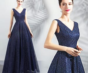 evening dress, formal dress, and women's fashion image