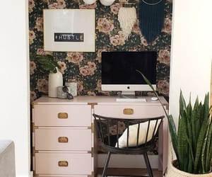 desk, home design, and bedroom ideas image