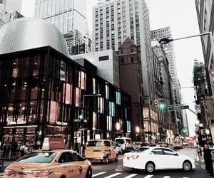 buildings, car, and newyork image