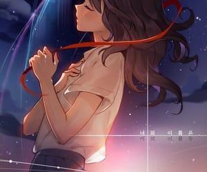 kimi no na wa, anime, and anime girl image