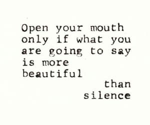 quotes, silence, and text image