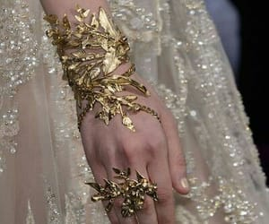 gold, aesthetic, and dress image