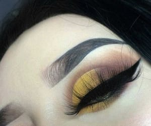 eye shadow, cute, and lashes image