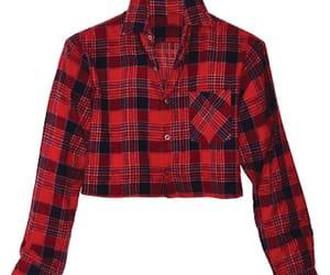 flannel crop top image
