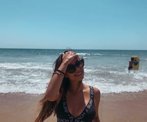 playa, sol, and water image