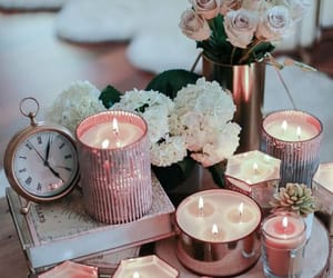 candles, flowers, and decoration image