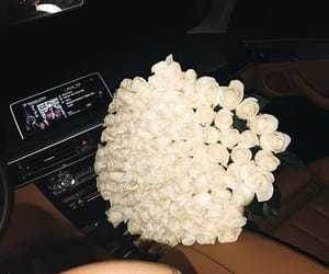 brand, car, and flowers image