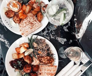 dinner, fashion, and drink image