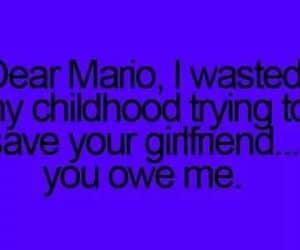 funny quote, joke, and Mario Bros. image