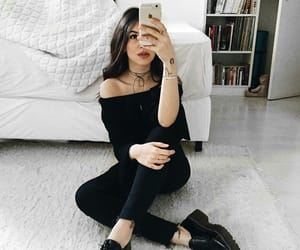 black clothes, clothes, and tumblr image