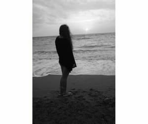 alone, black and white, and sadness image