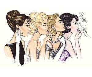 audrey hepburn, Marilyn Monroe, and grace kelly image