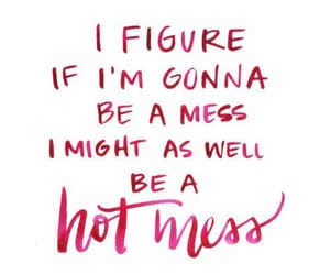 quotes, mess, and pink image
