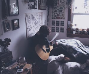 music, boy, and guitar image