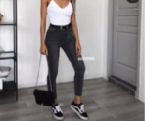 black, casual, and jeans image