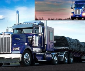 flatbed truck transport and flatbed truck carriers image