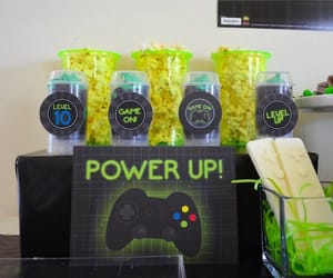 kids party ideas, gaming parties, and gaming party ideas image