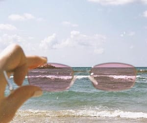 beach, sunglasses, and aesthetic image