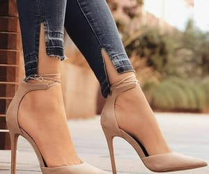 beige, pumps, and stiletto image