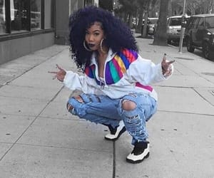 Afro, natural, and outfit image