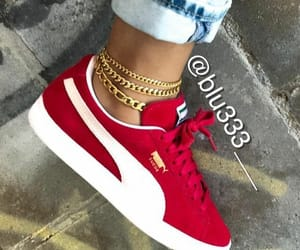 shoes, puma, and red image