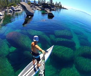 lake tahoe, usa, and Nevada image