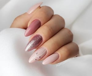 pink, nails, and manicure image