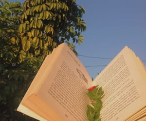 aesthetic, blue sky, and books image