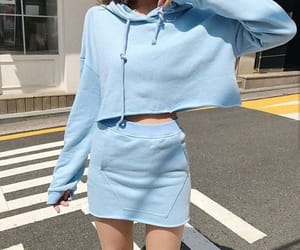 blue, kfashion, and outfit image