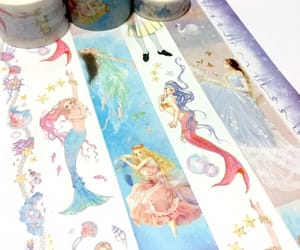 fairy tale, mermaid, and flower fairy image